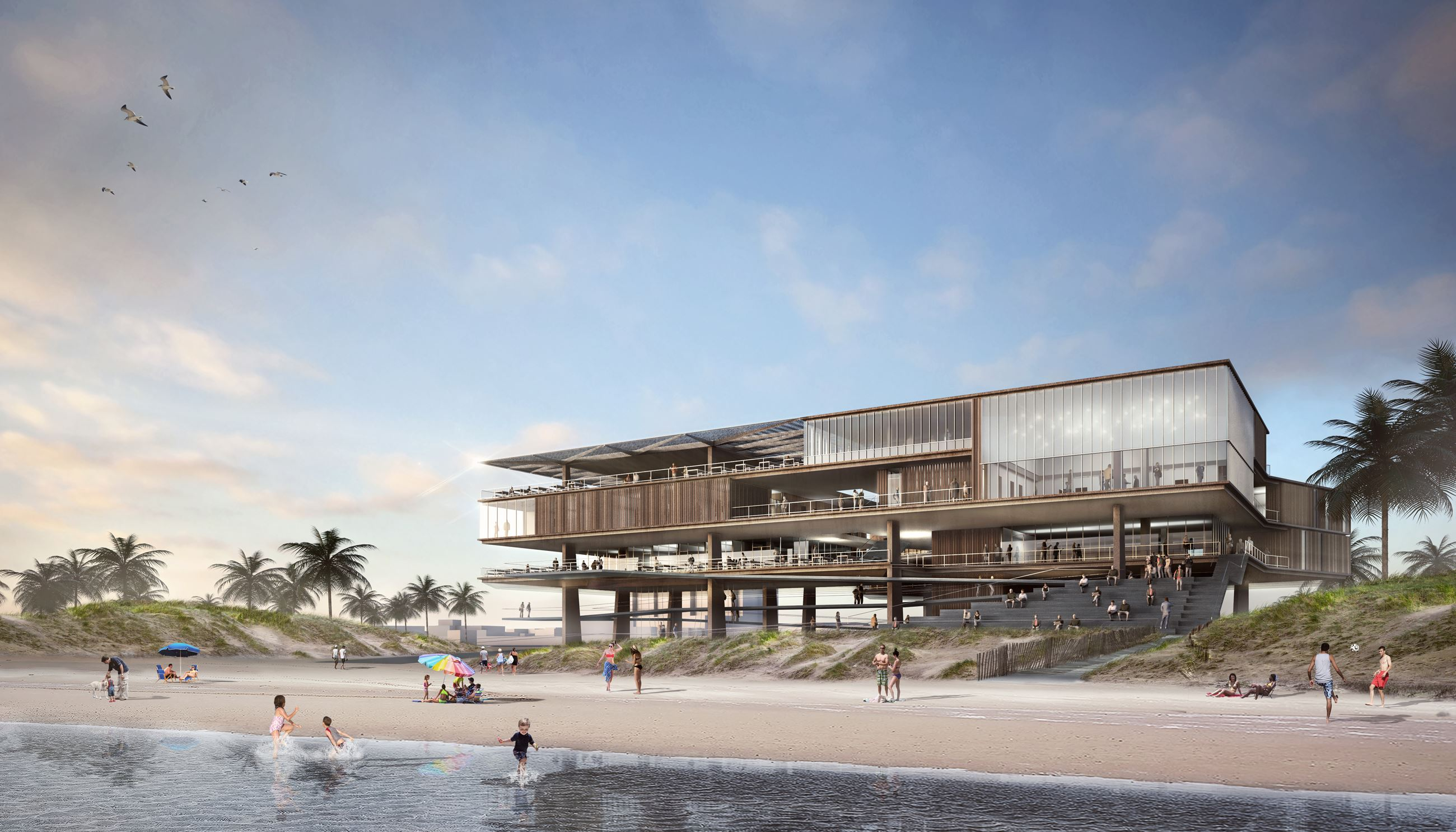 Beach view of conceptual new pavilion 03272018